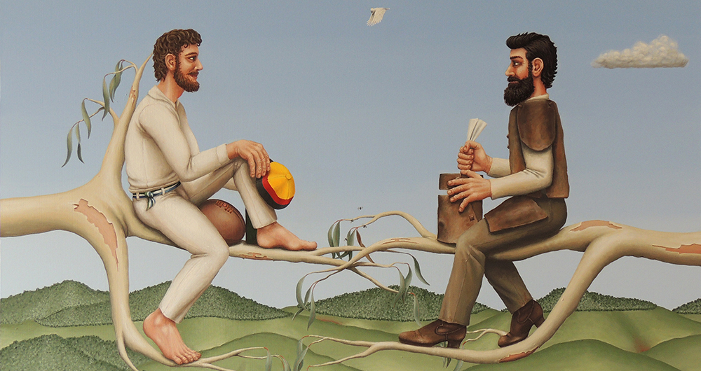 Richard Webber's 'Tom Wentworth Wills and Ned Kelly'