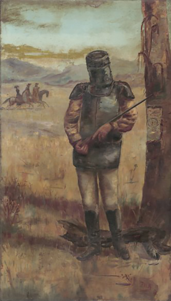 'Portrait of Ned Kelly' 1894 Oil on Canvas 106.9 x 61cm