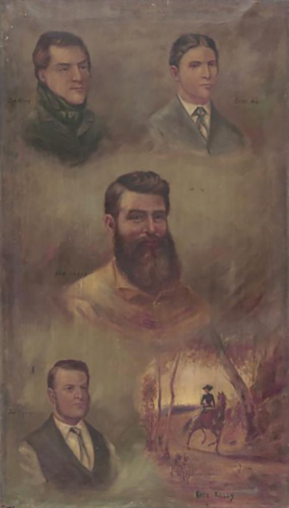 'Dan, Steve, Ned and Joe' 1894Oil on Canvas 107 x 61.2cm