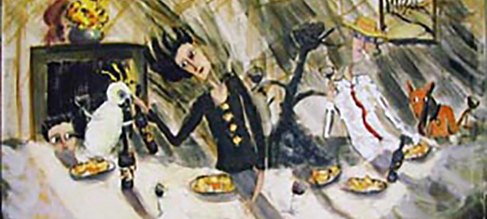 'The Gathering' 2002 Oil on Linen 84 x 91cm