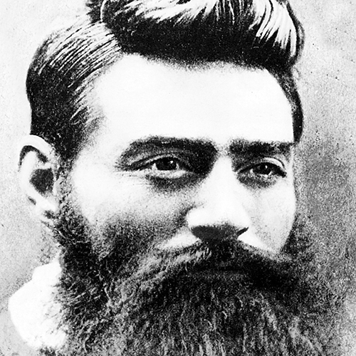 Ned Kelly was expert with a 'running-iron' on stolen, unbranded stock, and was a deadly accurate shot with revolver or rifle. Surprisingly articulate for a self-educated man, he was clannish, loyal to his friends and supporters, and had a sardonic sense of humour. He became an outlaw, hunted for almost two years before he was shot down and hanged...