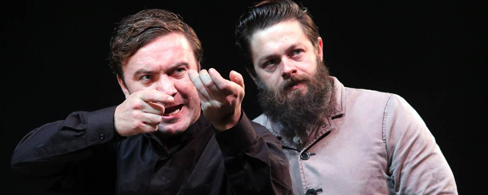 Ned Kelly (played by Steven Rooke, right) and Dan Kelly (Kevin Spink). Image: Robert Peet